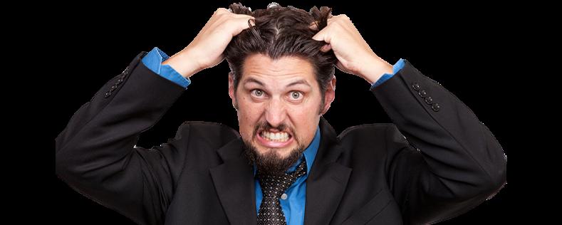 propriétaire d'appartement ou de maison qui s'arrache les cheveux